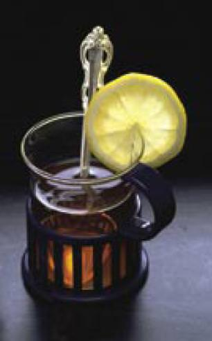 כוס תה עם לימון