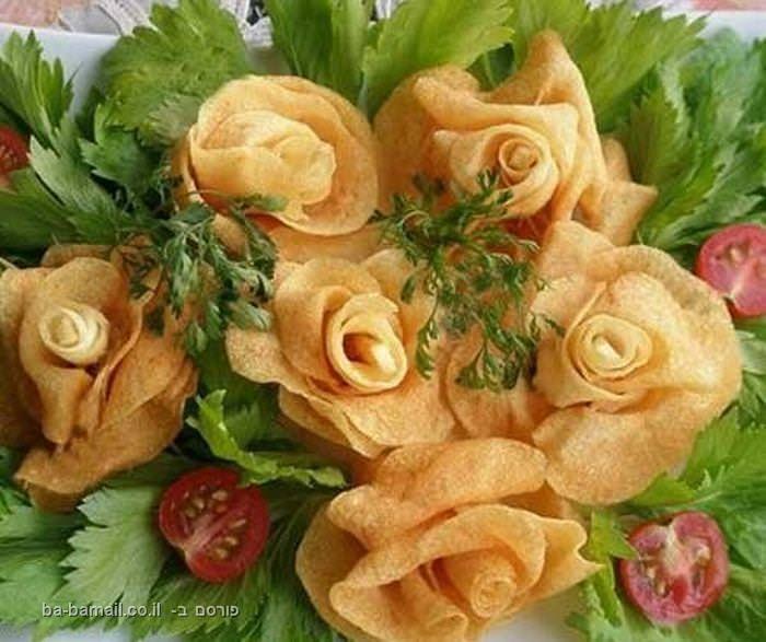תפוח אדמה, ורדים, בישול