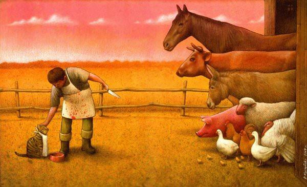 סרקאזם חד דרך ציורים - הצייר פול קוצ`ינסקי