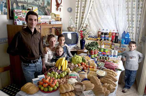 what families around the world eat
