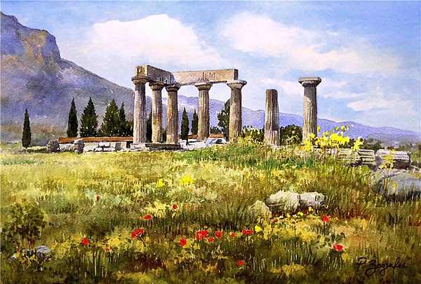 paintings of greece