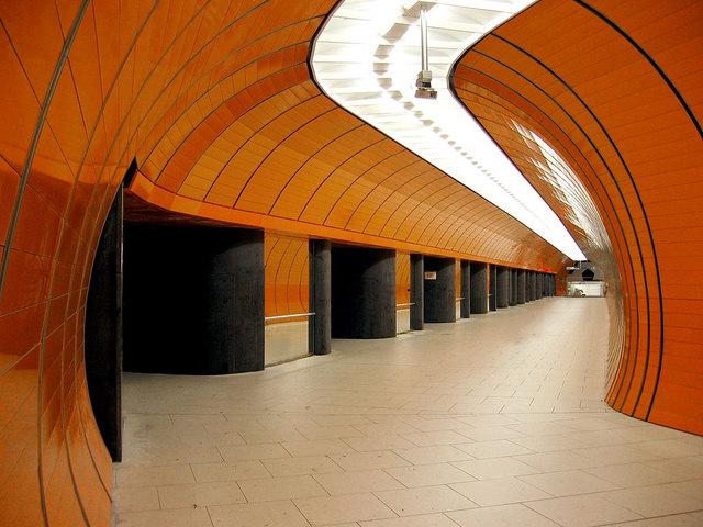 beautiful subway station