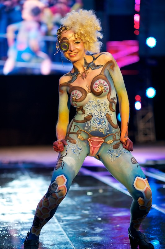 Adult body painting