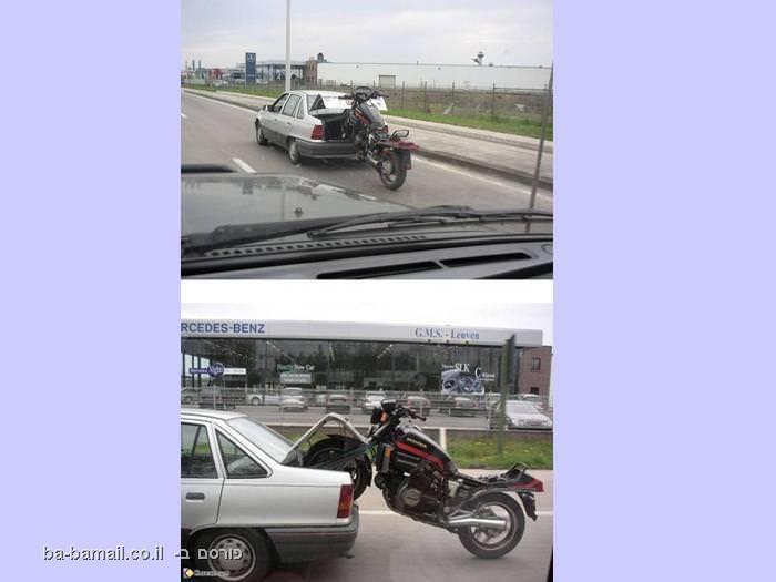 מכונית גוררת אופנוע